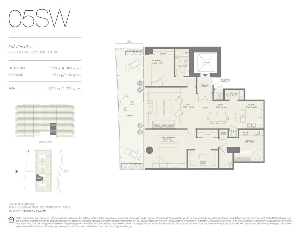 05 SW 2 Bed - 2.5 Bath