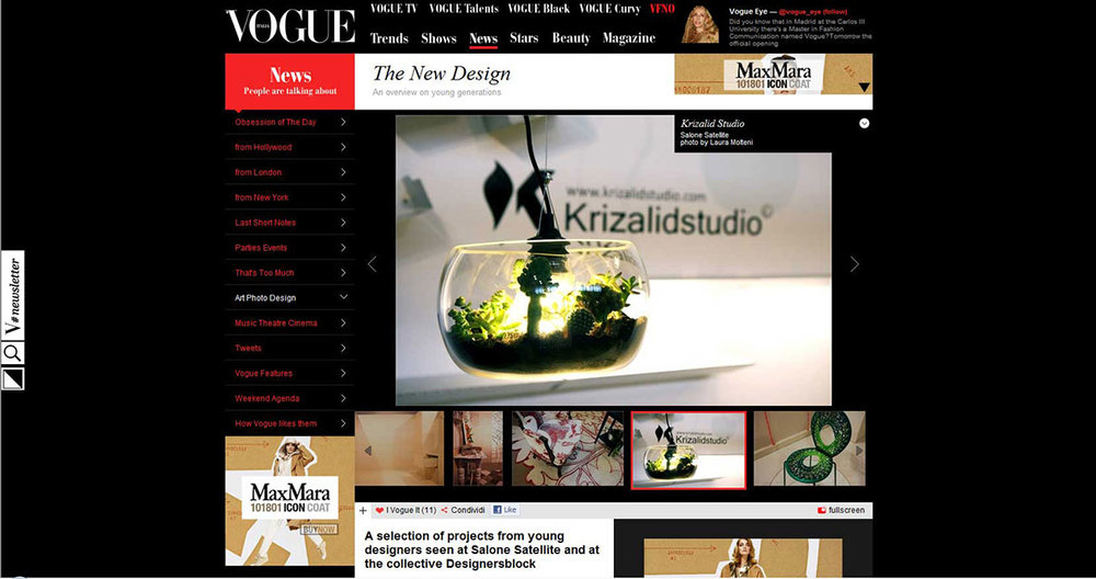 Vogue web site