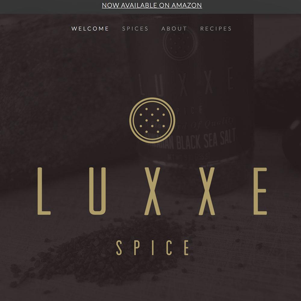 LUXXE SPICE Web Design