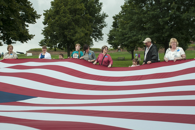 Fort McHenry - Unfurling the Stars and Stripes