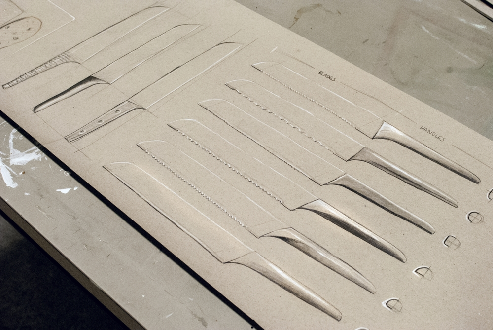 Asa (bread knife and cutting board) - Detailing