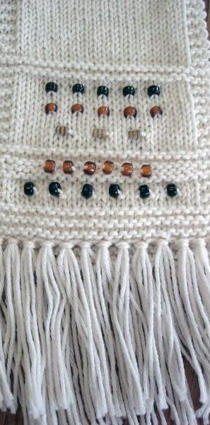 83b4ba1c7cfd Knitting with Beads Scarf — The Yarn Garden Knit Shop