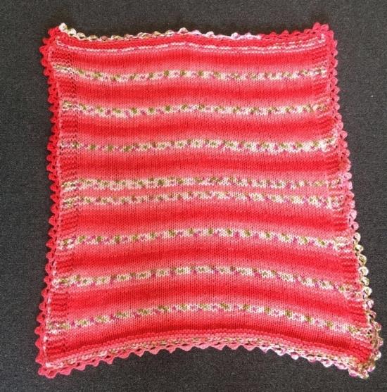 Baby Blossom Chunky Baby Blanket--Knit/Crochet by: Amanda