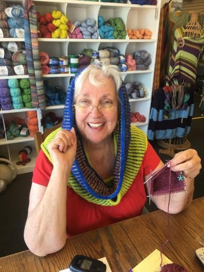 Yarn Garden owner Carol