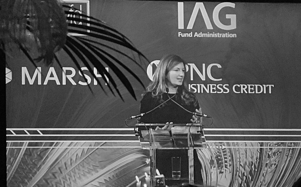 Baroness Karen Brady from the Apprentice, provided an entertaining note.