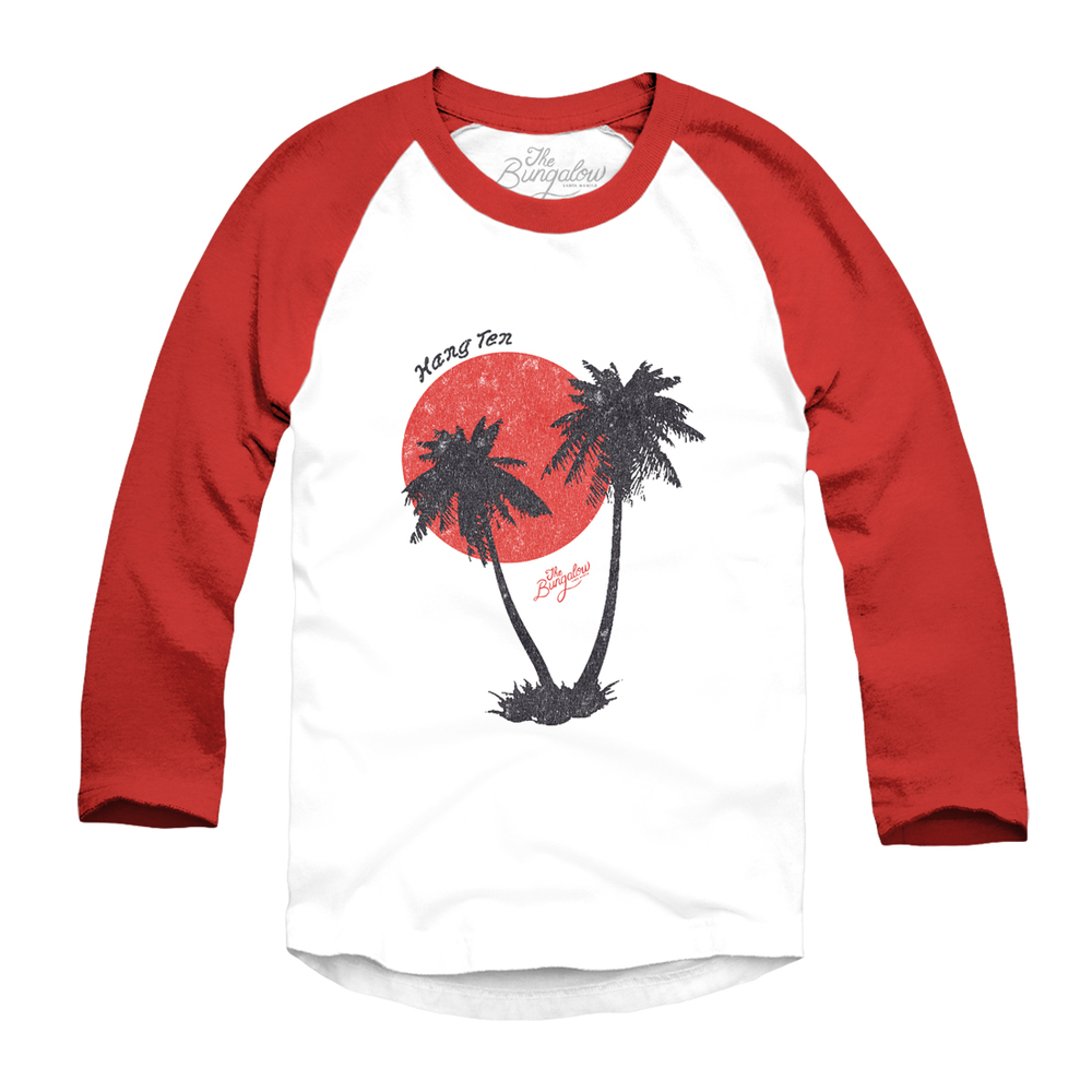 BASEBALL PALM TREES // WHITE, RED