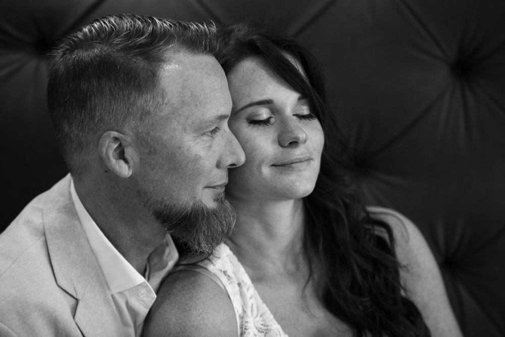 comfort-couple-wedding-love-together-beard-patrick-henry-downtown-couch-black-white-virginia
