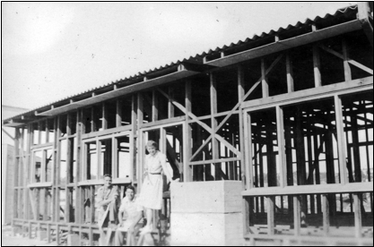 Building the first house at Westshore