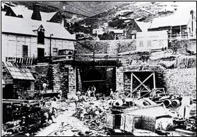 Lyttelton Tunnel works in 1867
