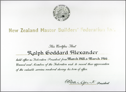 H B Master Building Association New Zealand Master Builders Federation