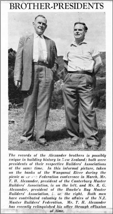Newspaper clipping of the Alexander brothers