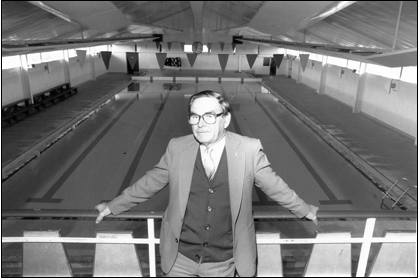 Ralph at the indoor heated pool at Onekawa Park