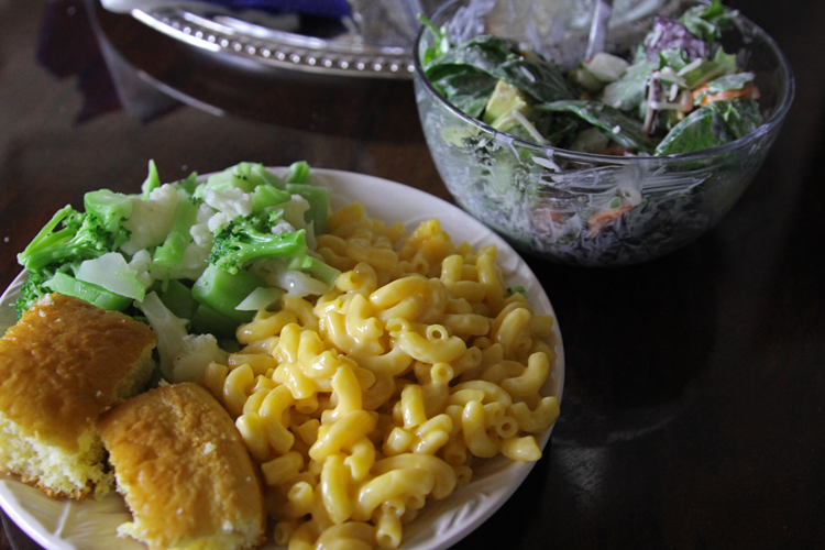 Classic. Mac & Cheese. Broccoli and Guac. Griffin House Salad...not really, I need to come up with that.