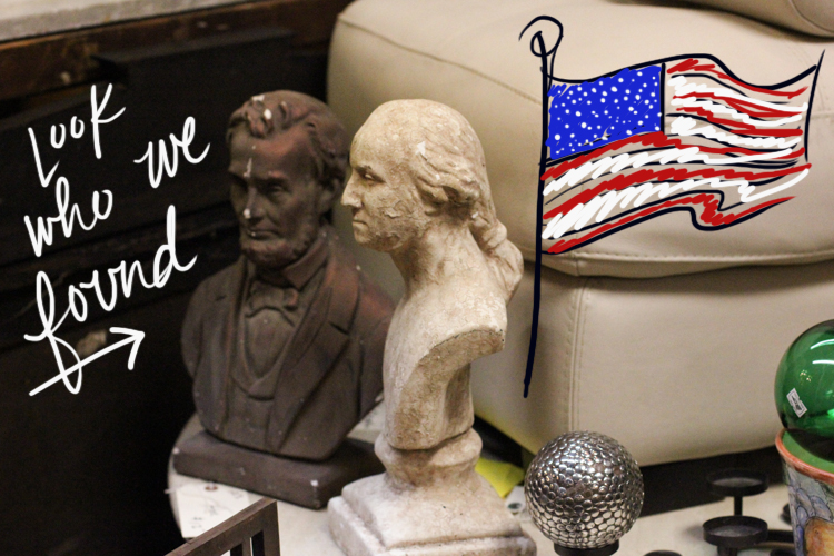 AMAZING Abe & George busts that now have a place in our home!