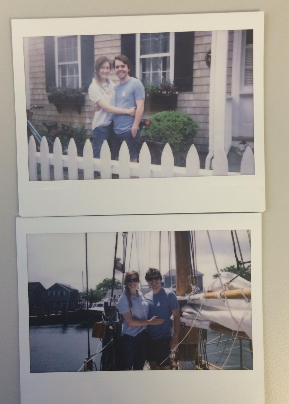 Polaroids for days. Love him.