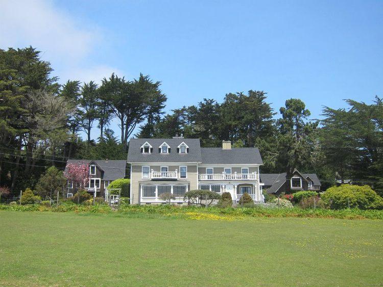 The entire estate. The Barn Loft, The Farmhouse, and Stevenscroft (left to right)
