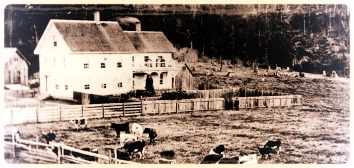 our 1867 farmhouse, circa 1912
