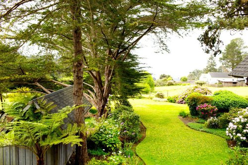 acres of manicured gardens