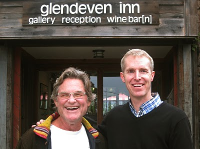 Kurt Russel at the Wine Bar[n] at Glendeven Inn Mendocino