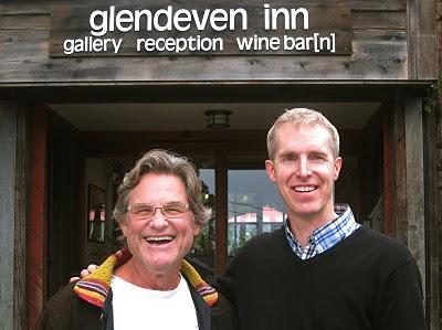 Kurt Russel at the Wine Bar[n] at Glendeven Inn Mendocino