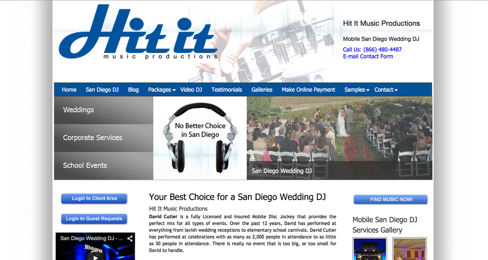 This Drupal website was created for Hit It Music Productions. Hit It Music is a fully Licensed and Insured MobileDisc Jockeythat provides the perfect mix for weddings and alltypes of events.