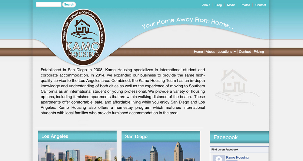 This Drupal website is for KAMO Housing.Established in San Diego in 2008, Kamo Housing specializes in international student andcorporateaccommodations.
