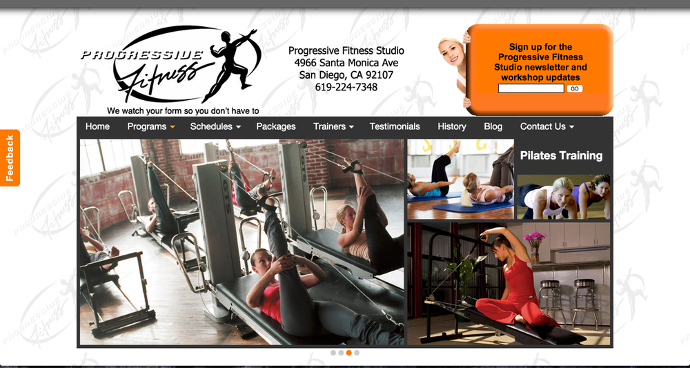This Drupalwebsite was created for Progressive Fitness Center in Ocean Beach. Director & Owner Jennifer Opaka teaches with a blend of strength conditioning and core seasoned with pilates techniques and yoga stretching for a well balanced and highly effective program.