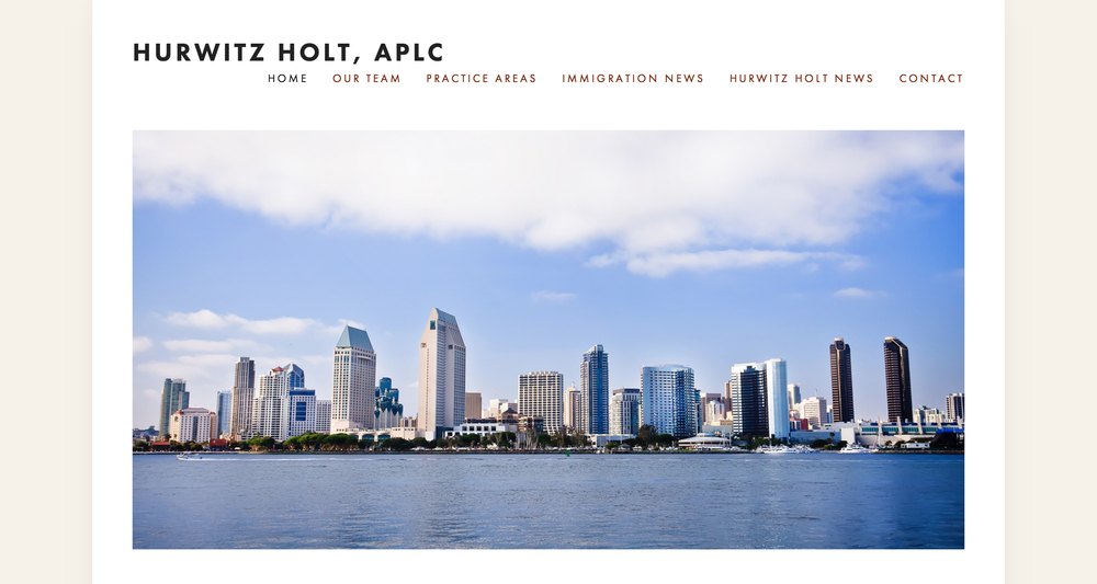 This Squarespace site was created for Hurwitz Holt Law Offices,a full service San Diego-based immigration law firm experienced in all aspects of U.S. immigration and naturalization law.