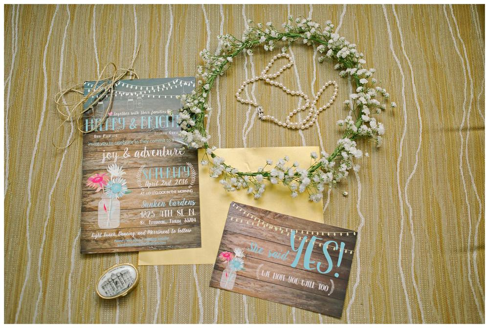 st pete garden wedding invitation