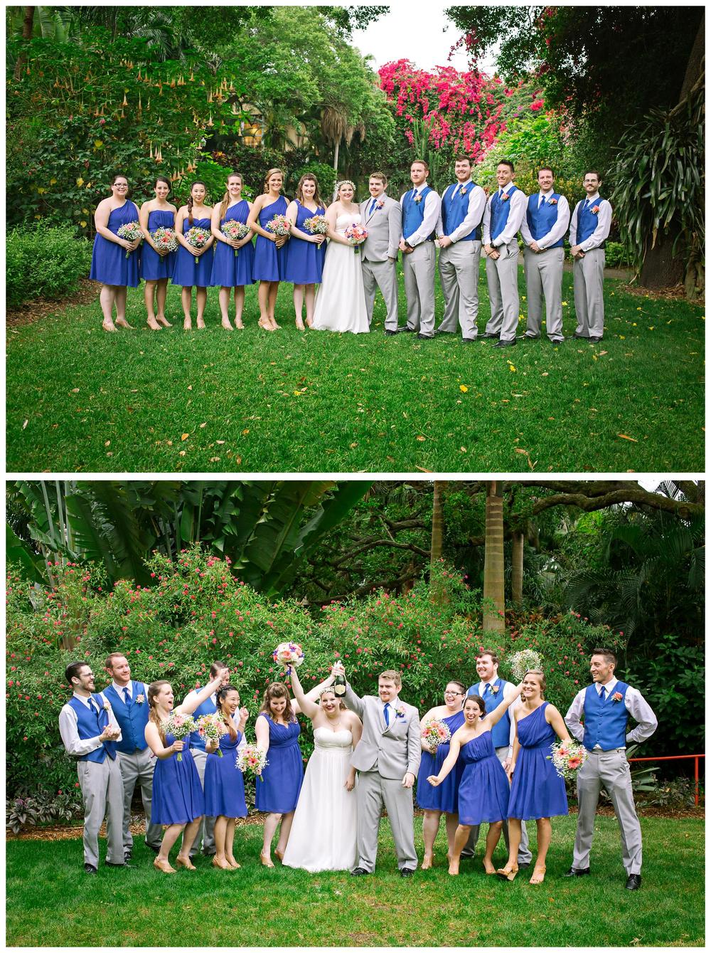 St Pete Wedding Large Bridal Party