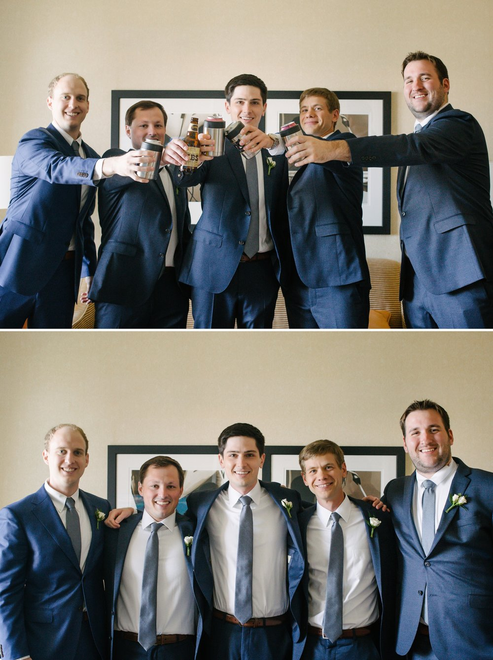 Tampa Marriott waterside Groom Groomsmen