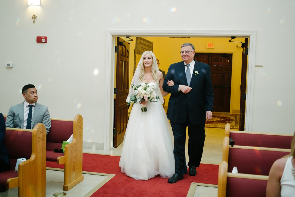 St Hagop Armenian Church Wedding Father and bride