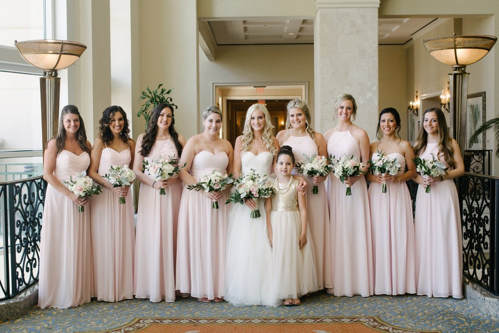 Marriott Harbor Tampa Wedding Bridesmaids