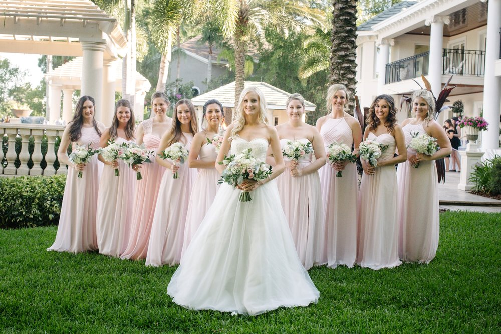 Linebaugh Avenue Backyard Wedding Bridsmaids Tampa