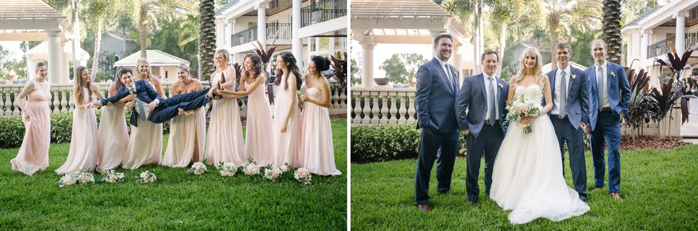 Linebaugh Avenue Backyard Wedding Groomsmen Groom  Tampa