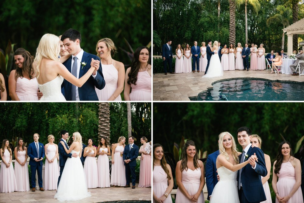 Linebaugh Avenue Backyard Wedding Reception Tampa