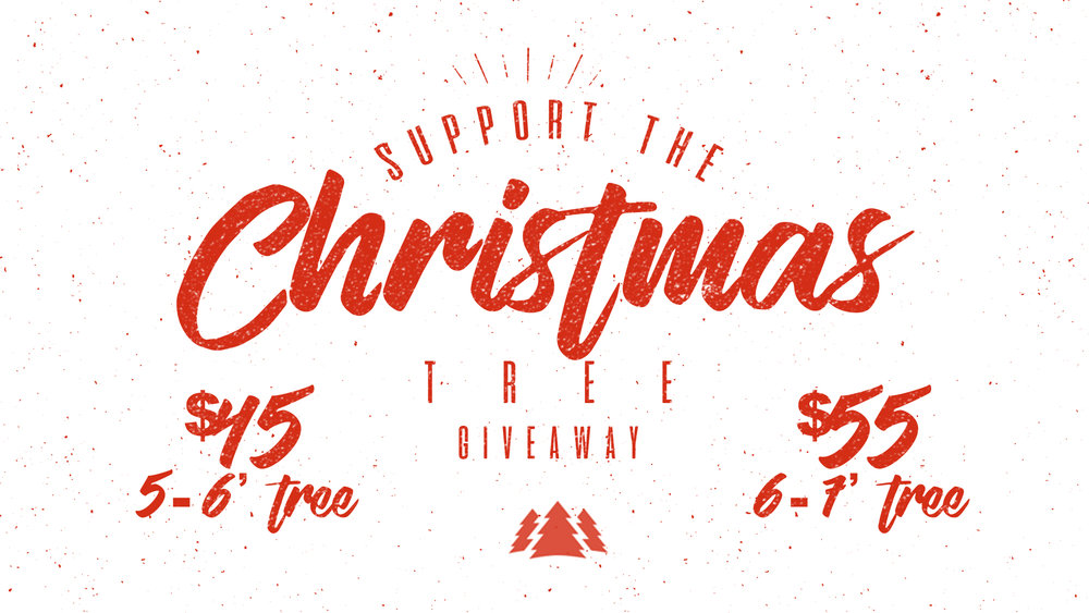The Giveaway is an expression of the gift of Jesus to our military community and the poor of our community. We sell the trees in lots of 2. This can be one for you and one to giveaway. Or you can purchase as many as you want to gift to our community. This year's costs are: $45 for 2 5-6ft trees or $55 for 2 6-7ft trees. . Click here for more information. Click here to watch a video of last year's event.