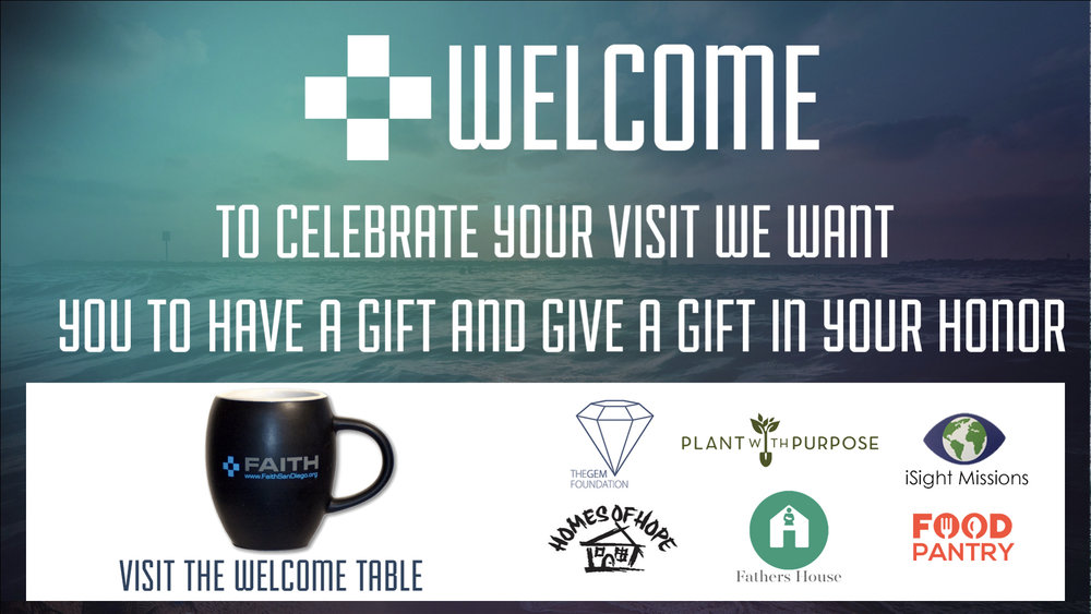 Stop by the Welcome Table to receive your free gift, pick a charity, and to find out more information.