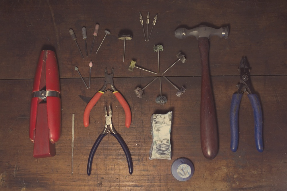 Once cast I use a different set of tools. There are many, but these are some of the ones I use most often.