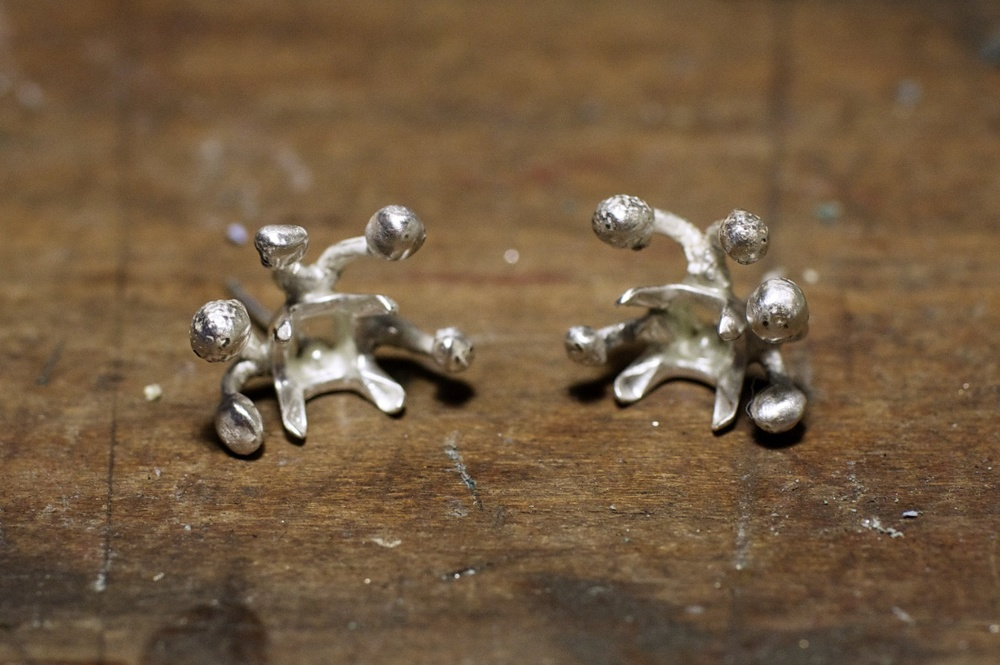These pieces are carefully soldered individually together with a high temperature torch and Silver solder.