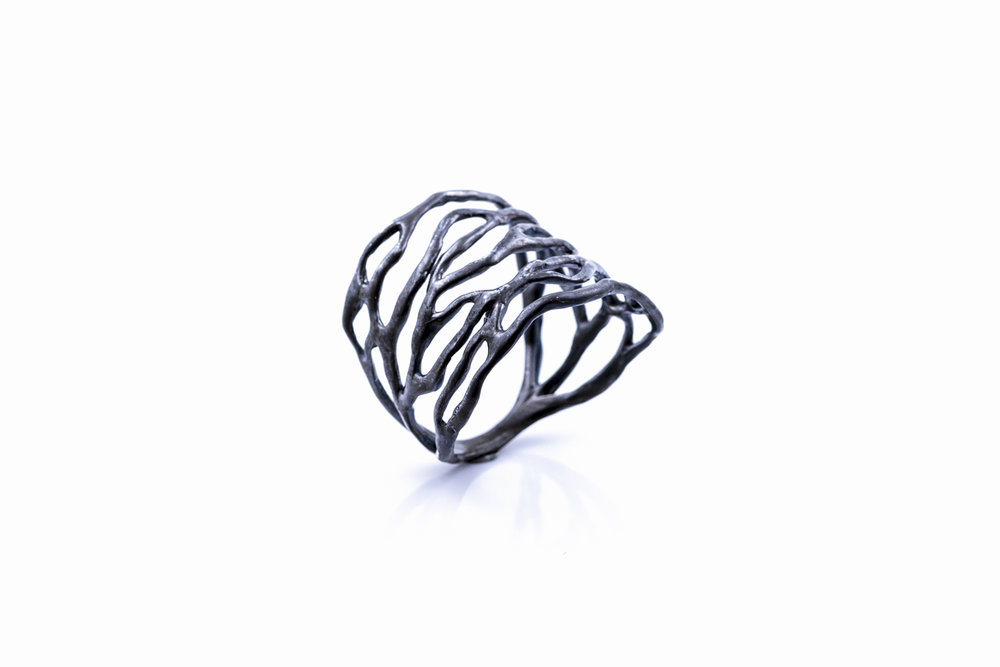 DARK Cajal RINGsterling silver