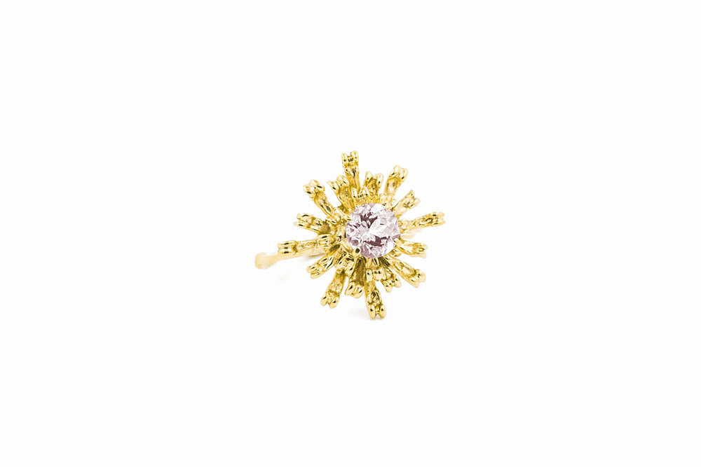 The Flowers Remaining Ring18ct yellow gold, morganite