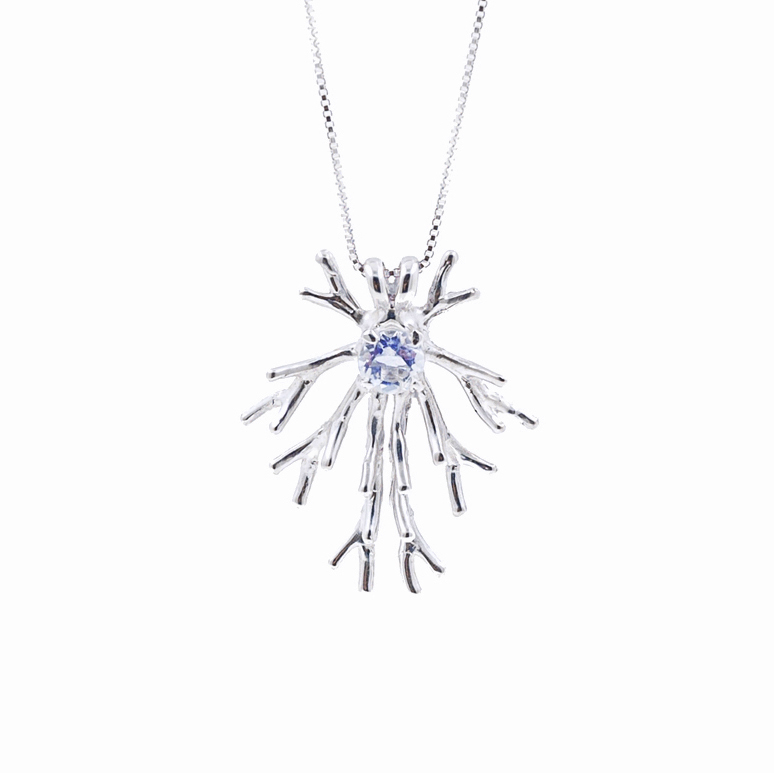 Astrocyte PENDANTSterling silver, moonstone