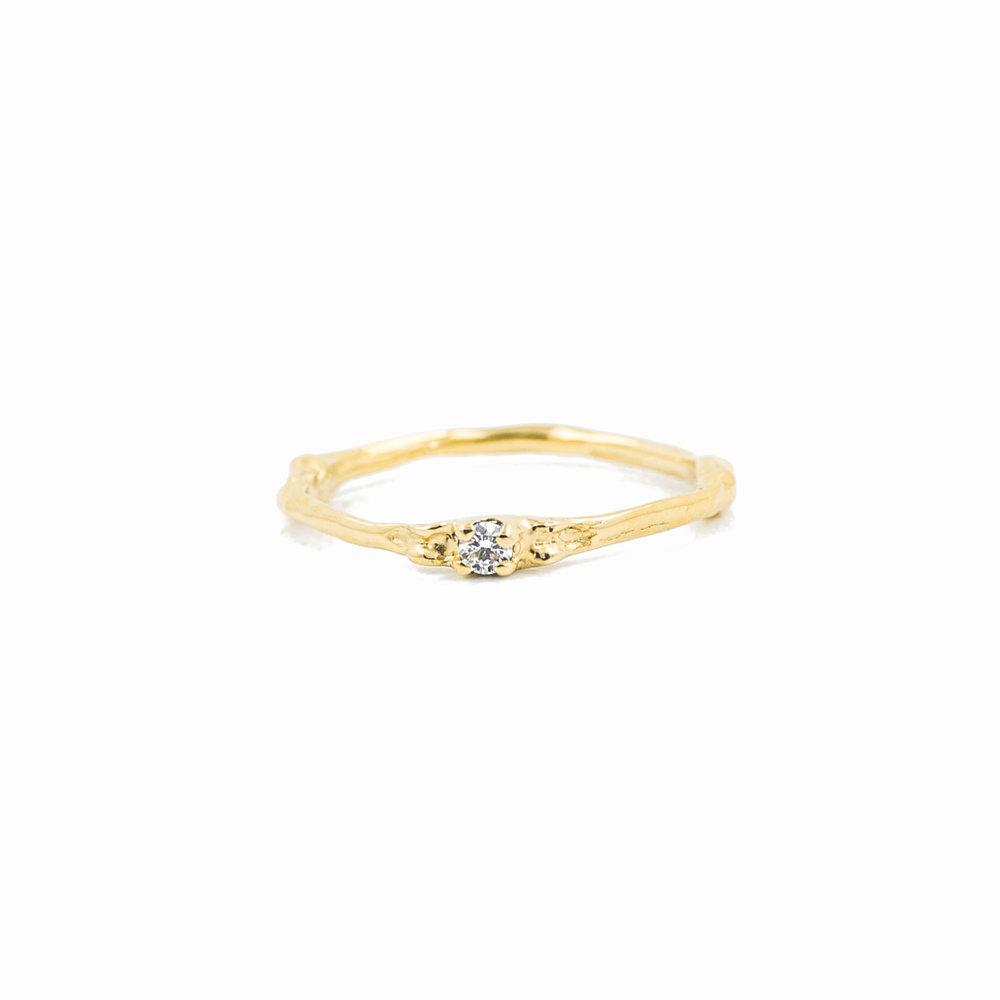 Towers Band 18ct yellow gold, brilliant white diamond