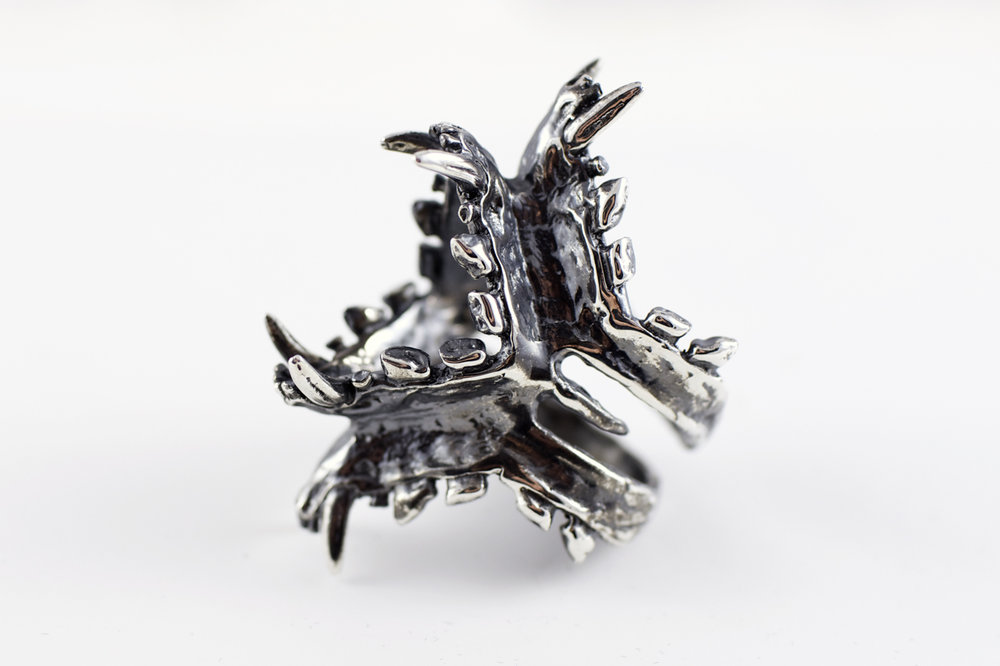 Jaws // solid Argentium Sterling Silver (2013)