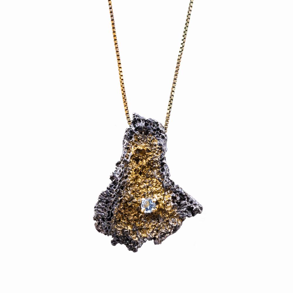 aquamarine fragment pendant