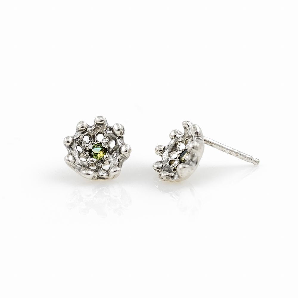 sapphire parti earrings