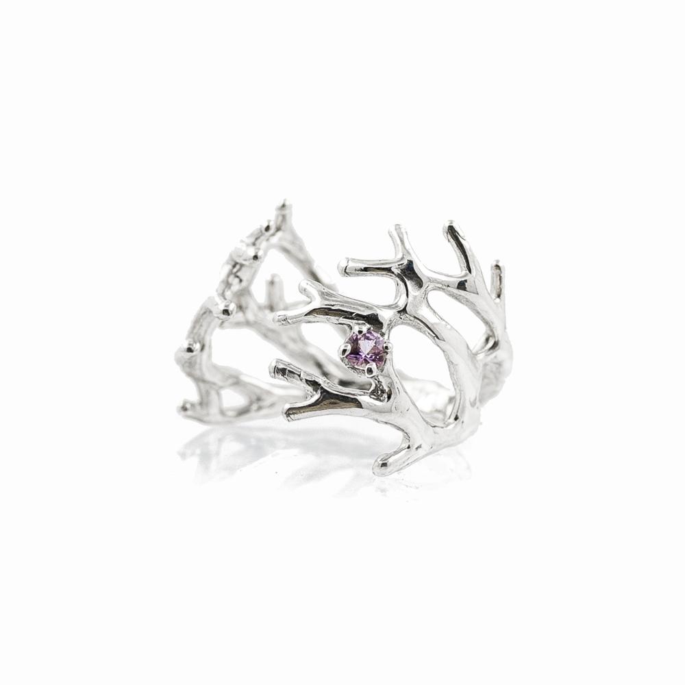 dendrite pink sapphire