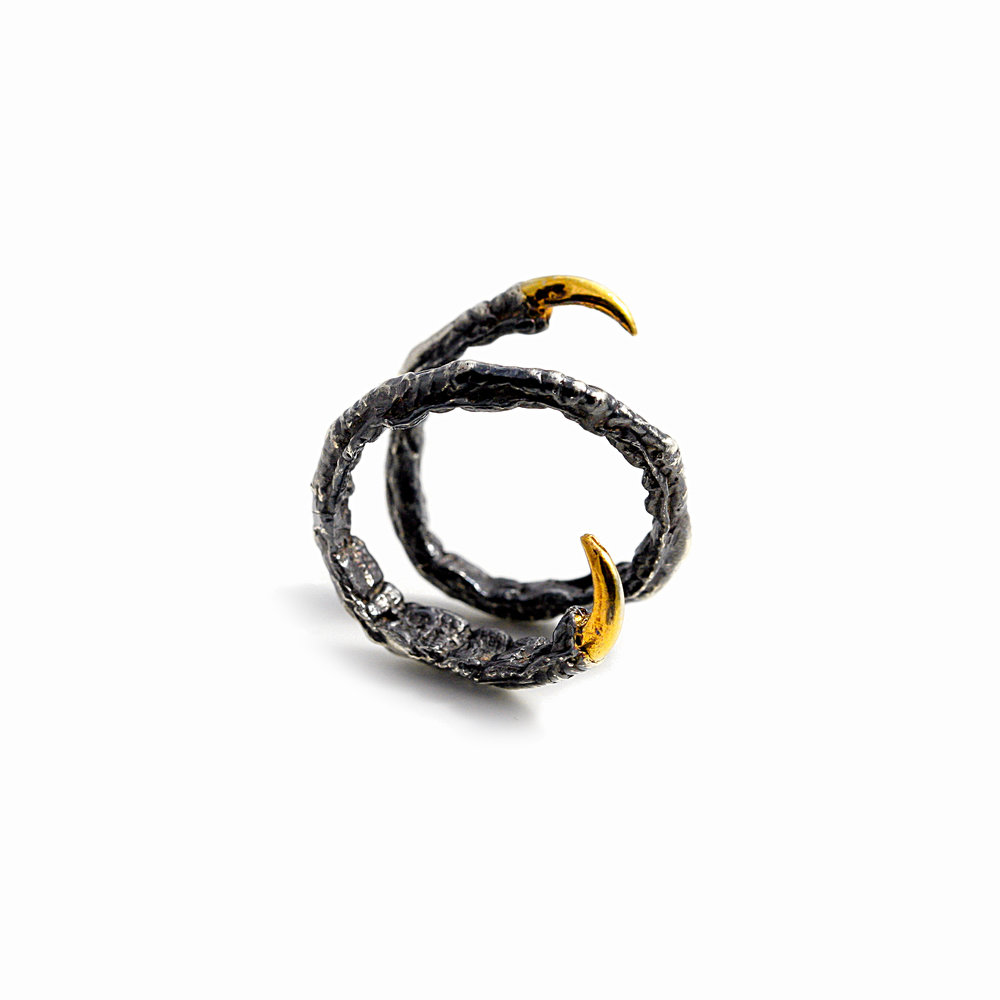 Twist Ring | Sterling silver, gold vermeil, patina.