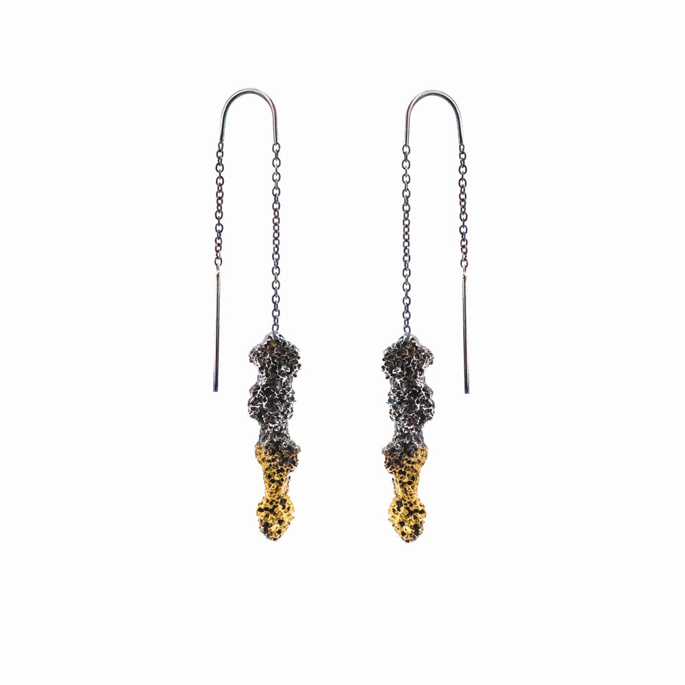 Graceful Spire Earrings | Sterling silver.